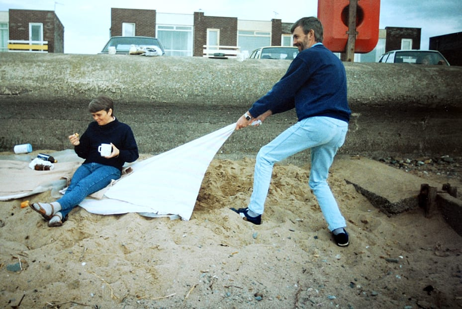 Let's move to the seaside, Chrissie on Cleveleys beach, mid 1990's