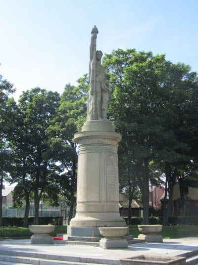 The Cenotaph in Memorial Park at Fleetwood