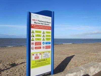 beach safety sign