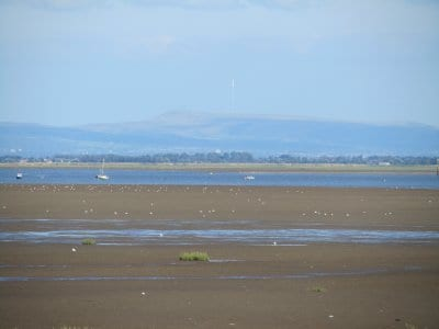 Looking across the Ribble Estuary