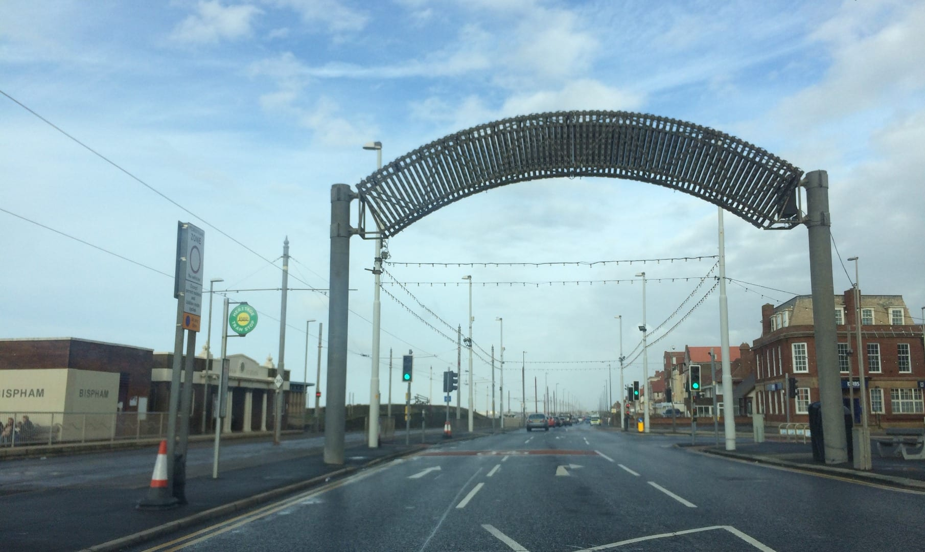 Bispham welcome arch at Redbank Road, a landmark on the Fylde Coast seafront