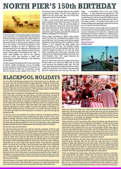 Blackpool Heritage News - Chrissie Blogger article