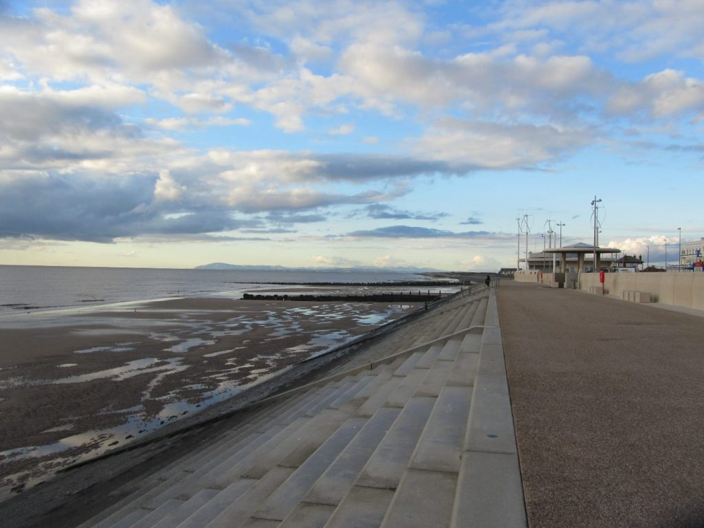 Cleveleys promenade on the Fylde Coast seafront