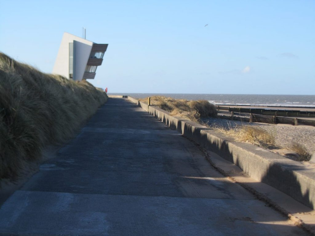 Rossall Point Coastwatch Tower at Fleetwood, on the Fylde Coast seafront