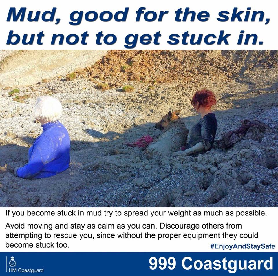 Stuck in sinking mud