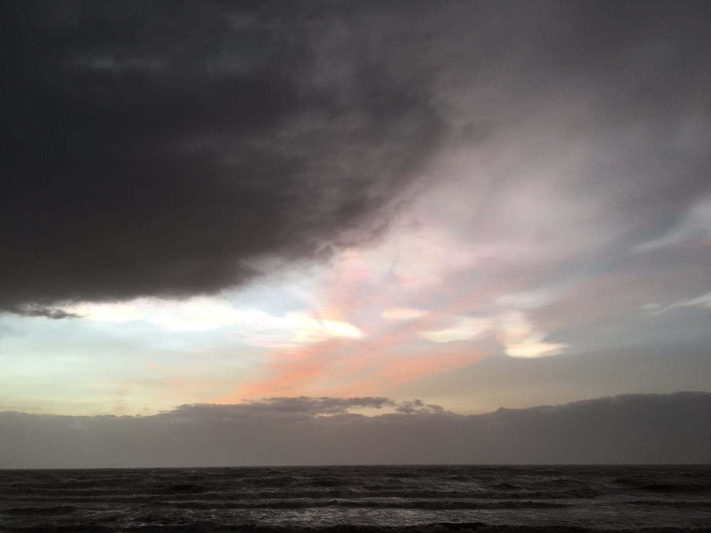 Nacreous clouds at Cleveleys on 1.2.16