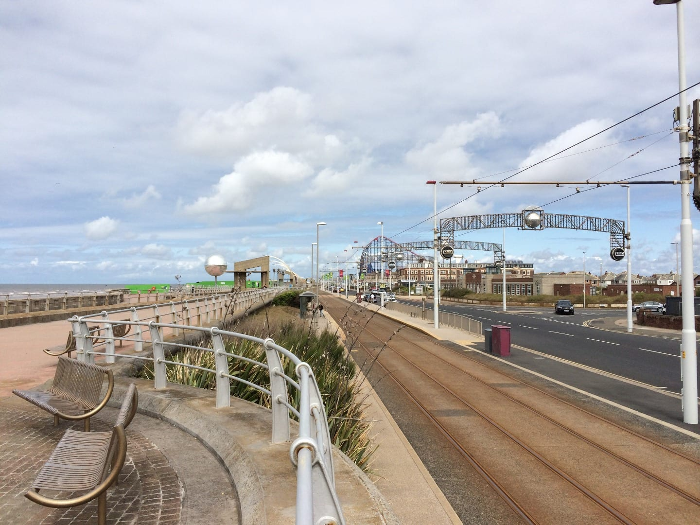 New South Promenade Blackpool, part of the Fylde Coast seafront
