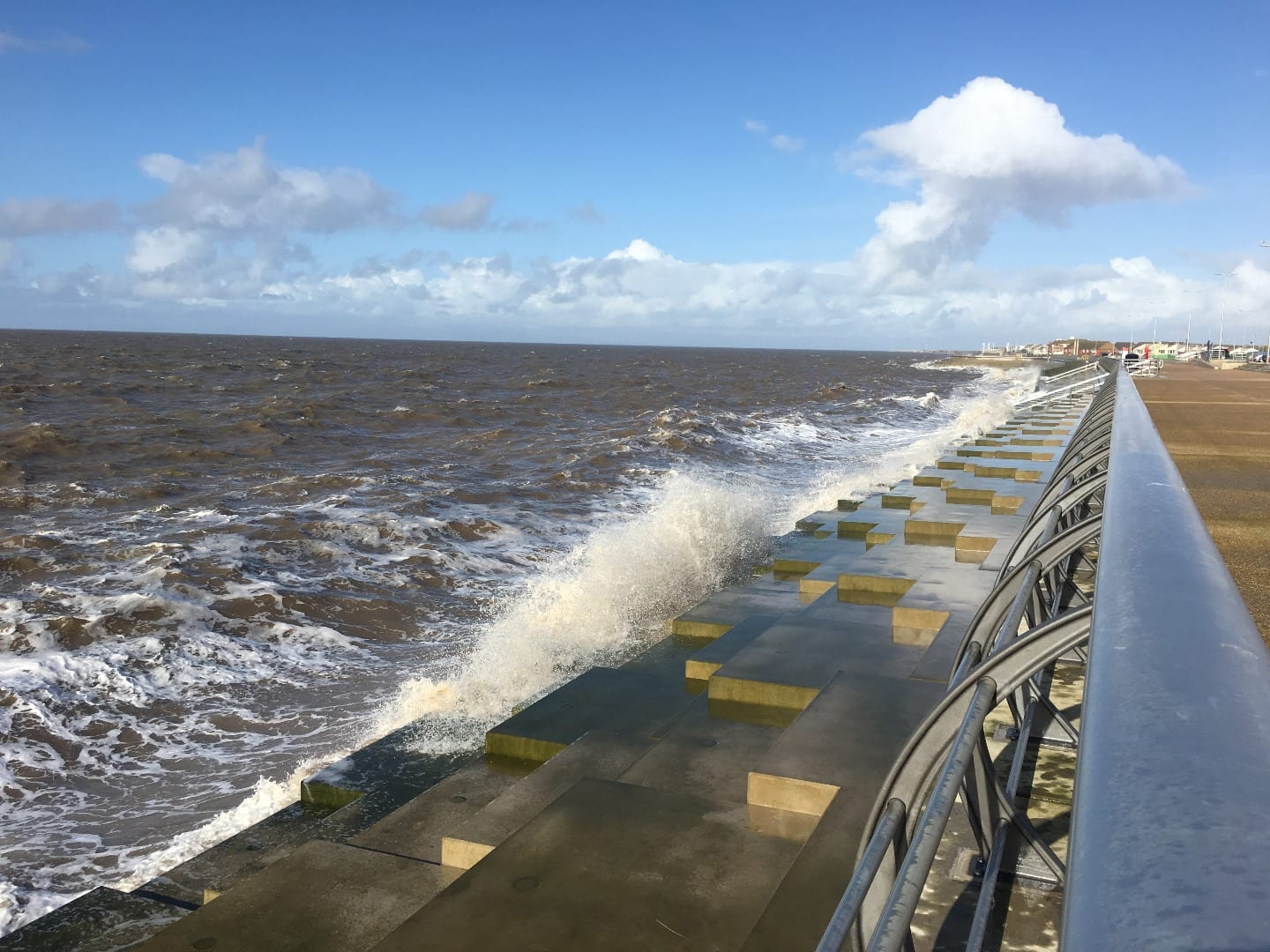 New Blackpool sea defences at Anchorsholme, Fylde Coast seafront