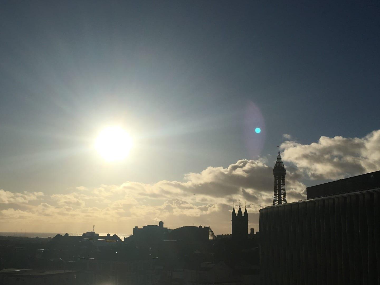 Blackpool skyline in winter