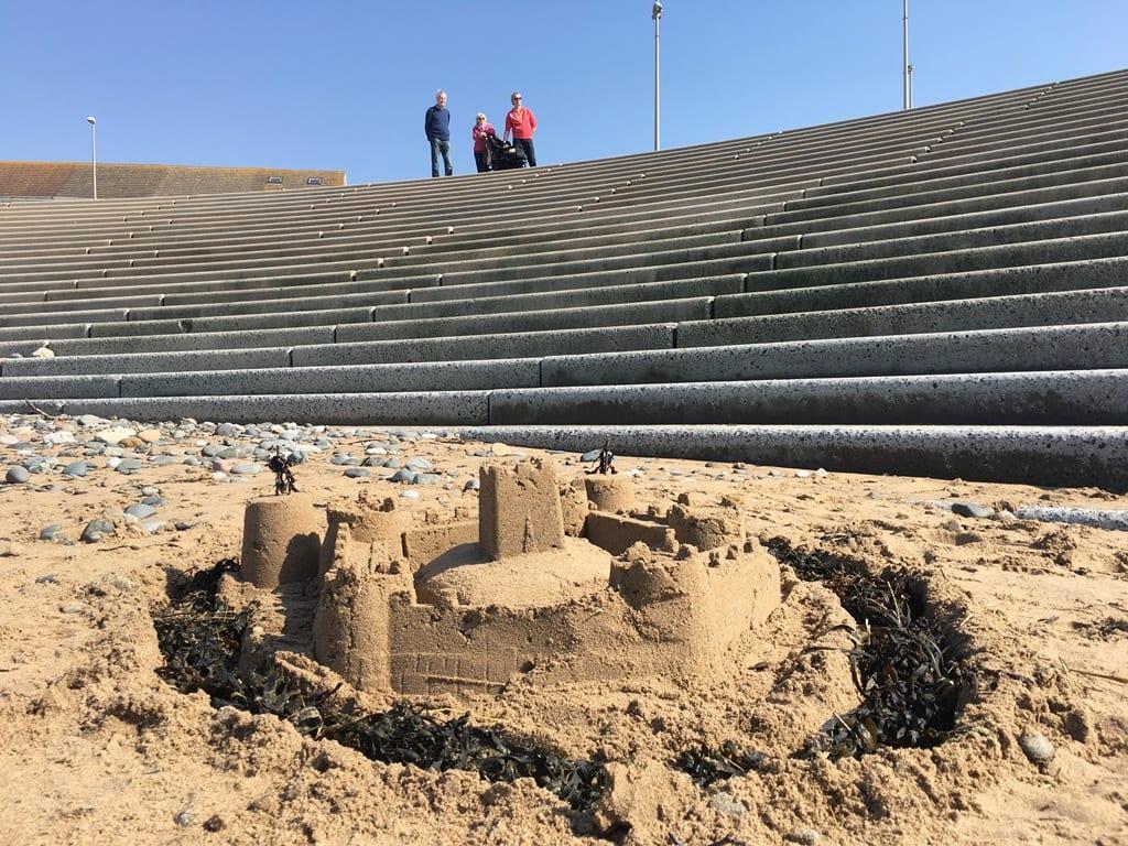 Sandcastles on Cleveleys beach