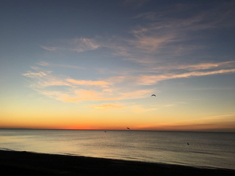 Cleveleys sunset 7 January 2018