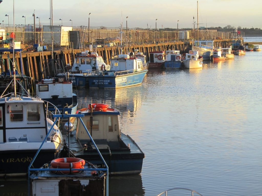 Fishing boats at Fleetwood on River Wyre, still on the Fylde Coast seafront