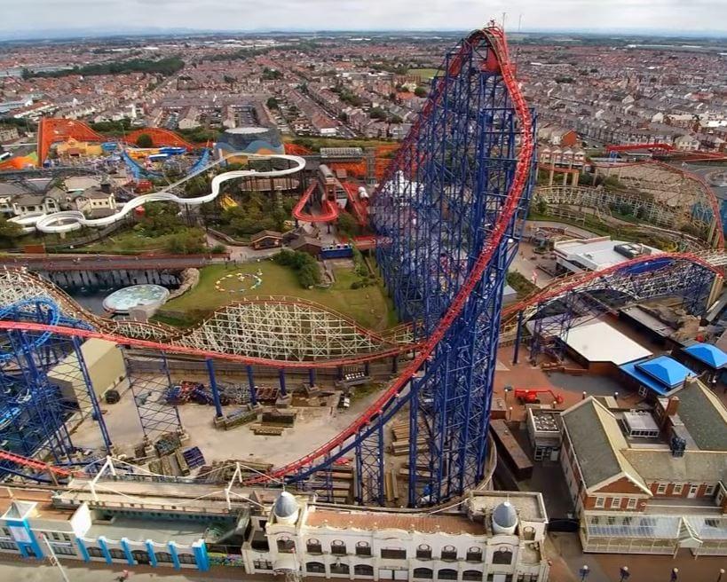 Blackpool Pleasure Beach from Quadographer13 Fylde Coast film