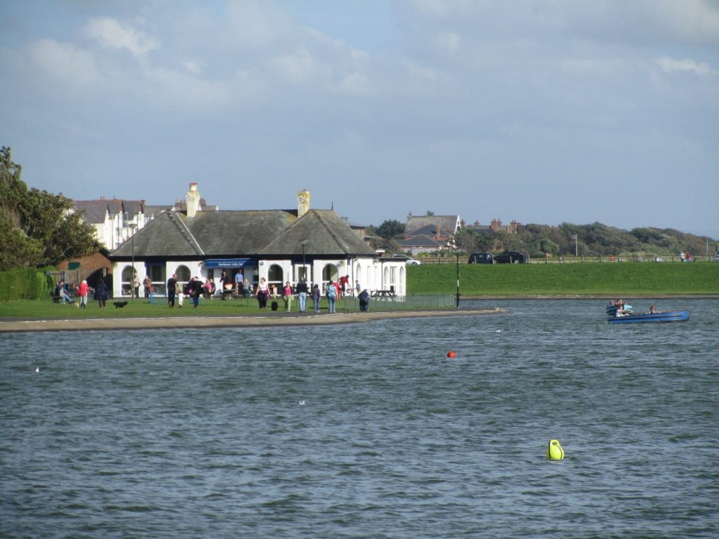 Fairhaven Lake at Lytham St Annes on the Fylde Coast seafront