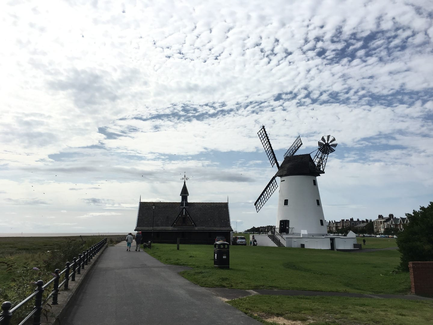 Lytham Windmill at Lytham Green on the Fylde Coast Seafront