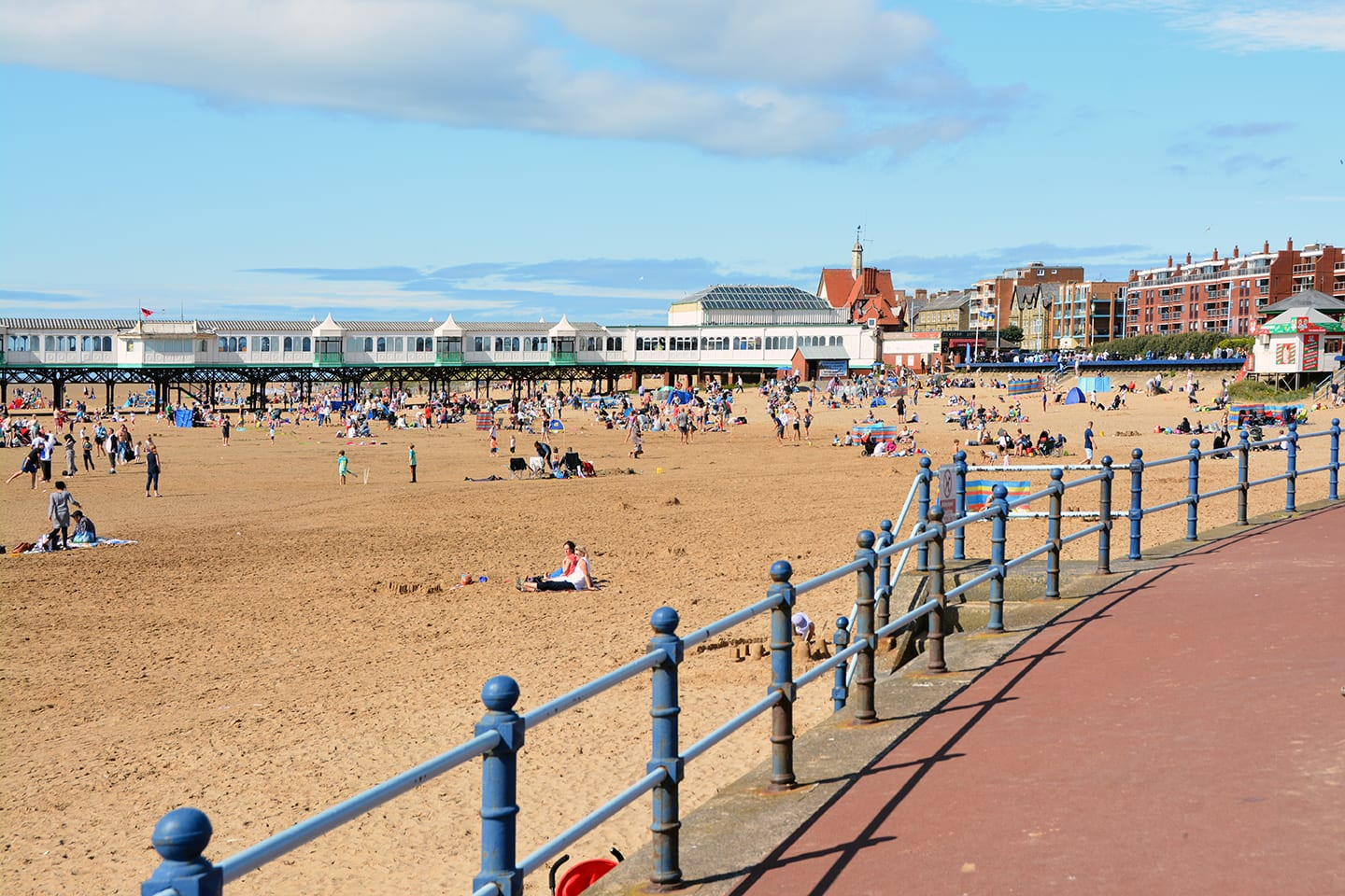 St Annes Beach and promenade on the Fylde Coast seafront