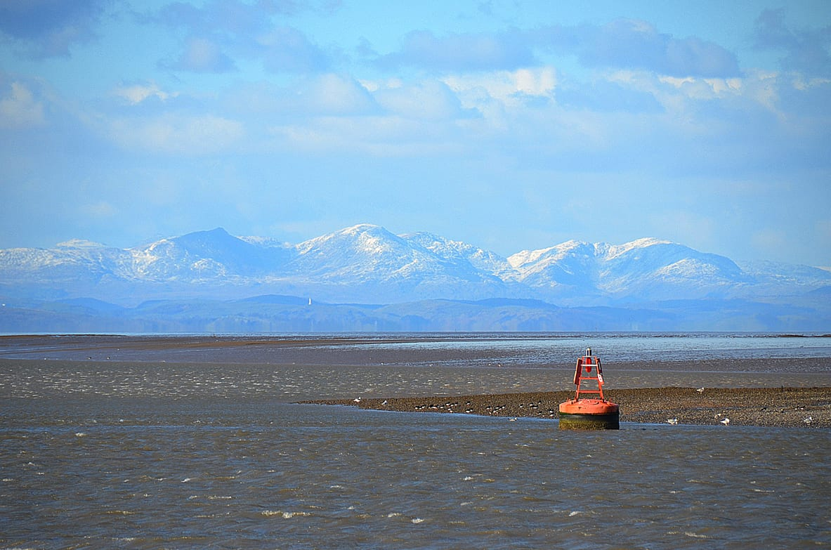 The Lake District from Fleetwood, another of the Views from the Fylde Coast