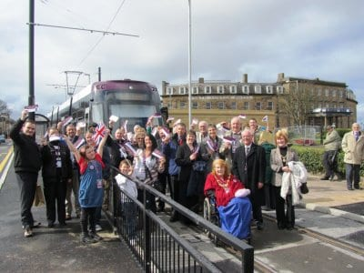 Tram launch event at Fleetwood