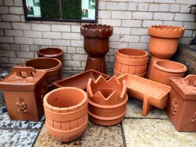 Terracotta planters from Builders Supplies (West Coast)