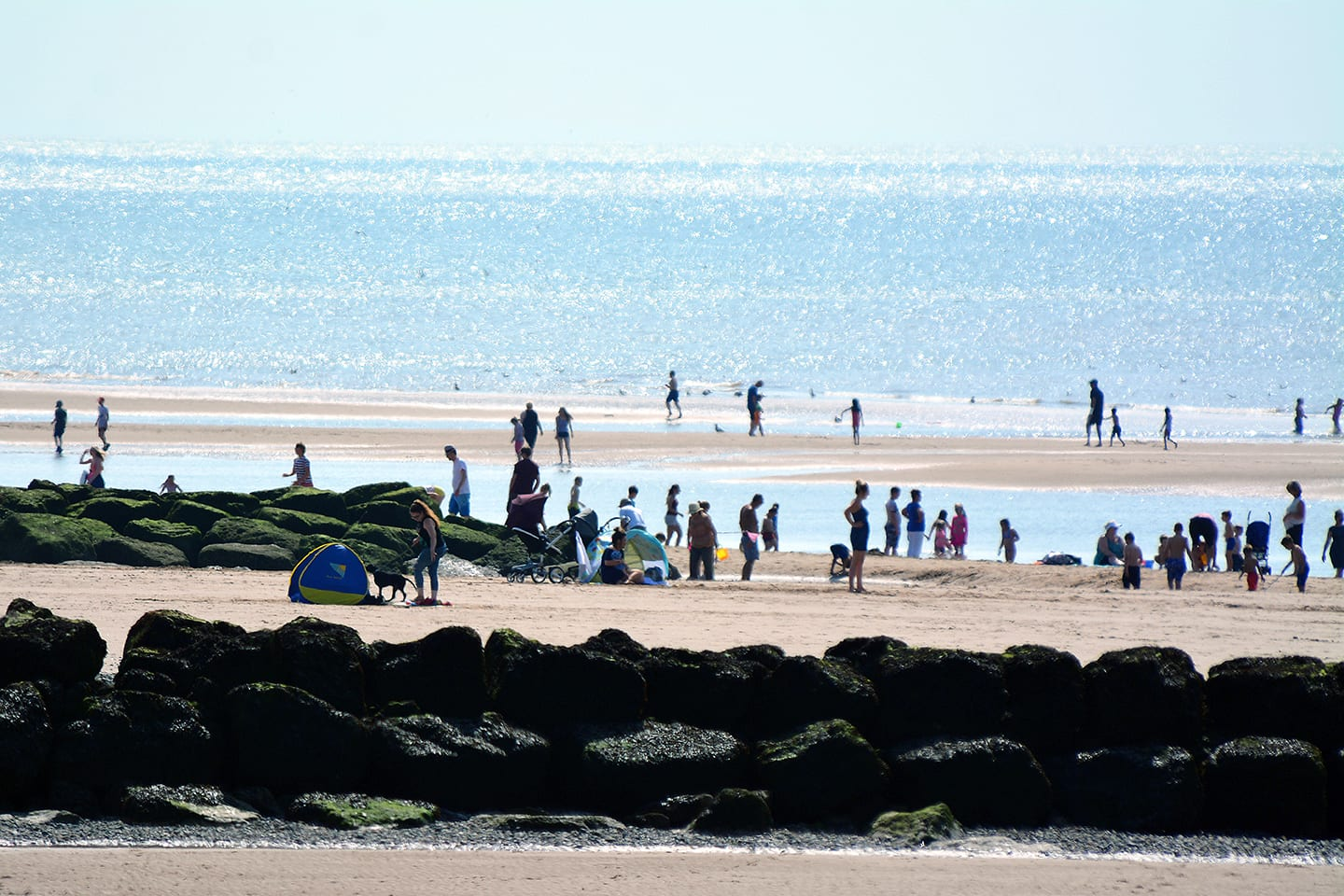 Cleveleys beach in the sunshine