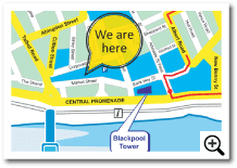 How to find the Blackpool Transport Market Street Travel Centre