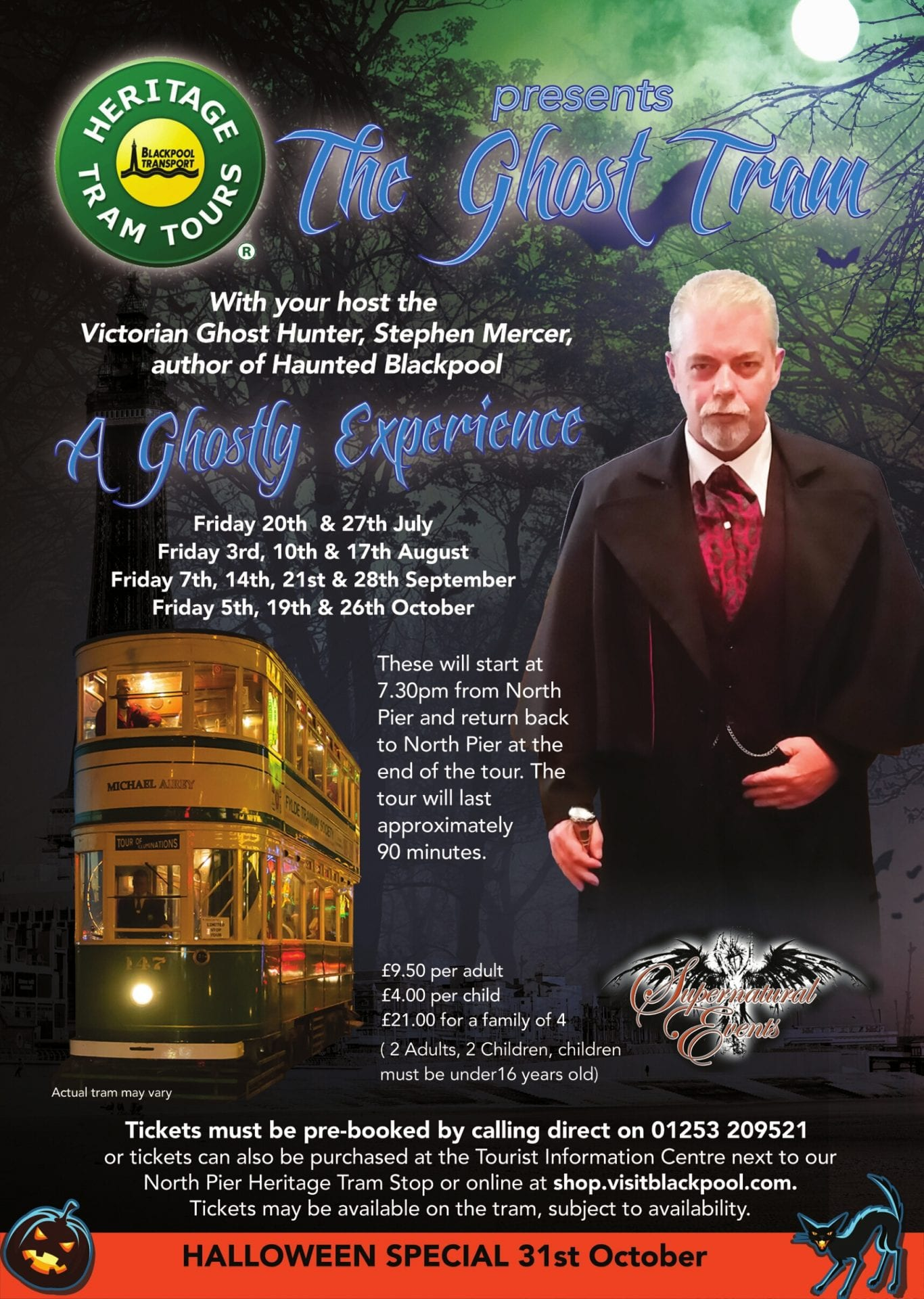Ghost tours with Blackpool Heritage Trams