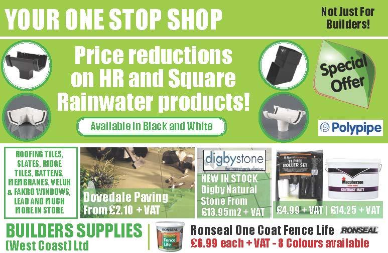 Plastic pipes and outdoor products from Builders Supplies