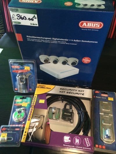Padlocks, locks and CCTV from Builders Supplies