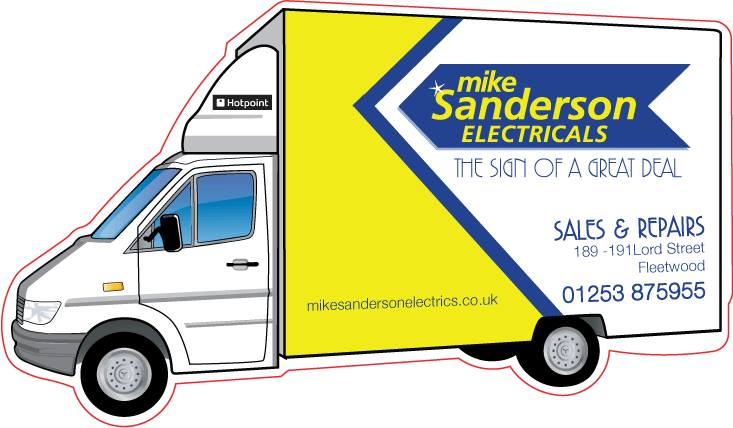 Free delivery from Mike Sanderson electricals