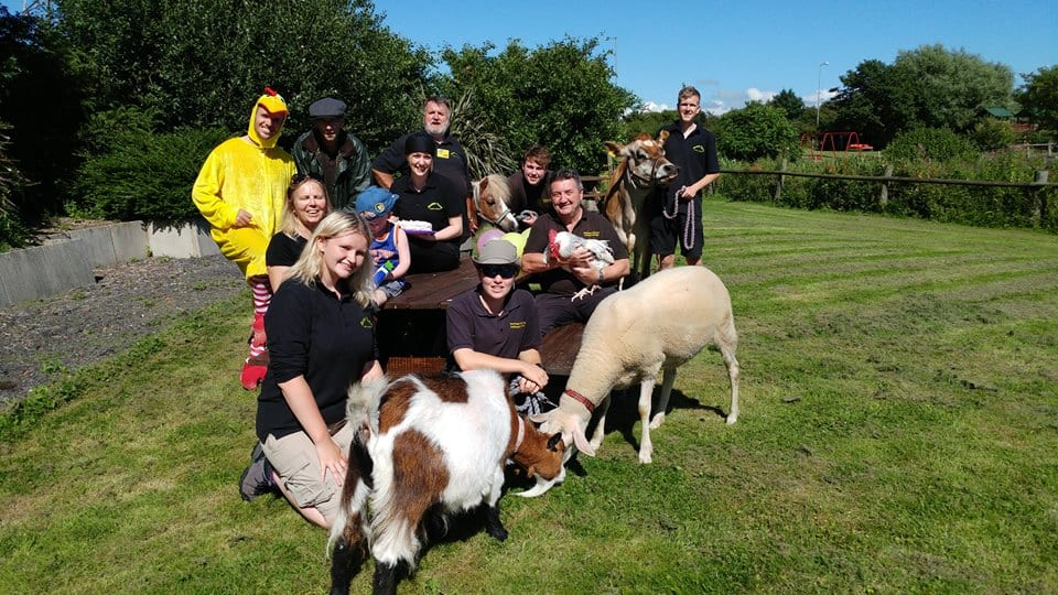 Animal Care Volunteers at Farmer Parrs