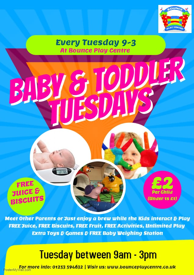 Baby and Toddler Tuesdays at Bounce Play Centre Blackpool