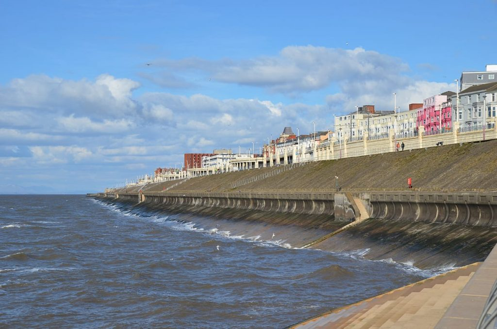 Blackpool north looking from Gynn roundabout, on the Fylde Coast seafront