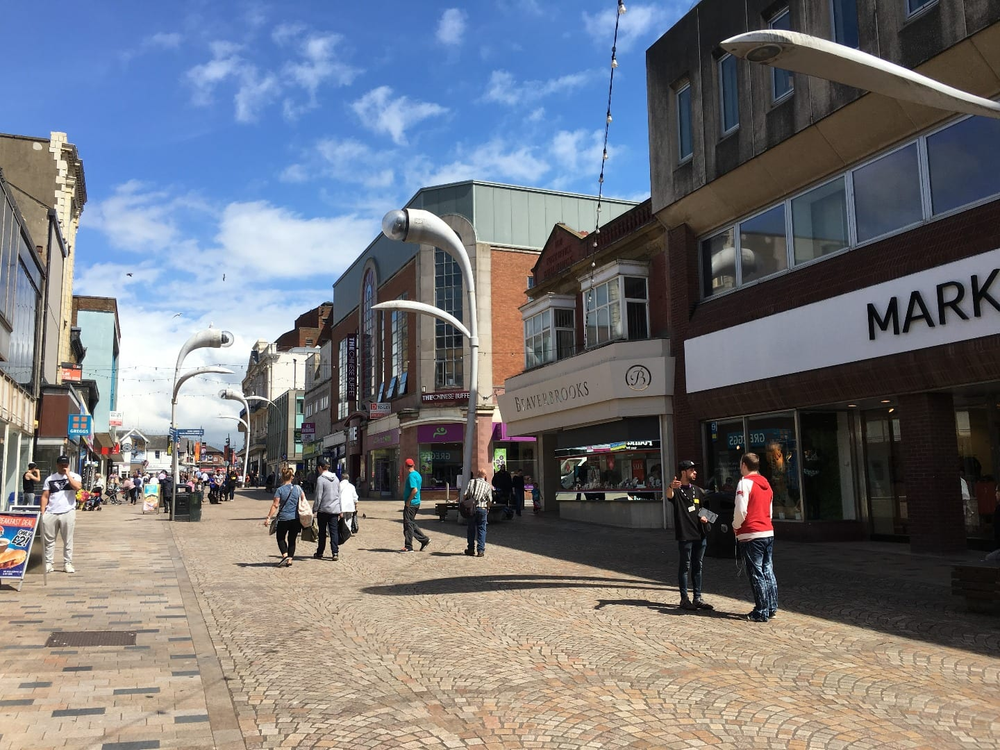 Church Street in Blackpool town centre, Marks and Spencer