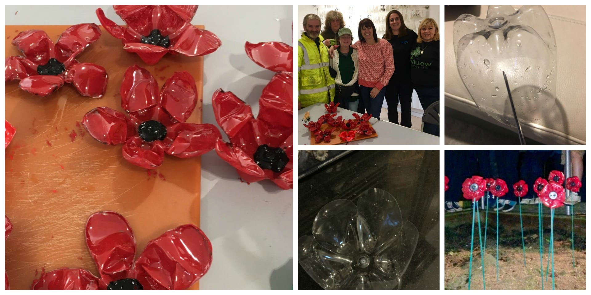 Bottle poppies with Fleetwood Town Council