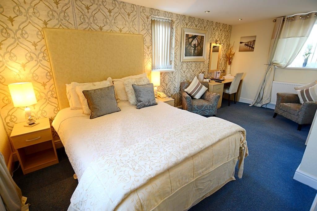 Bedroom at the Briardene Hotel