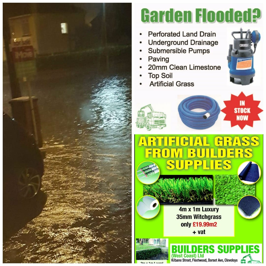 Builders Supplies - be ready for flooding