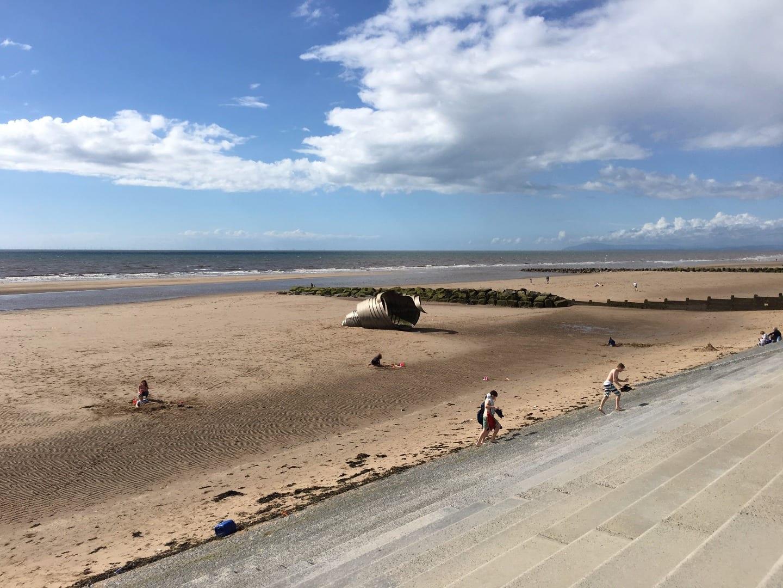 Mary's Shell on Cleveleys beach