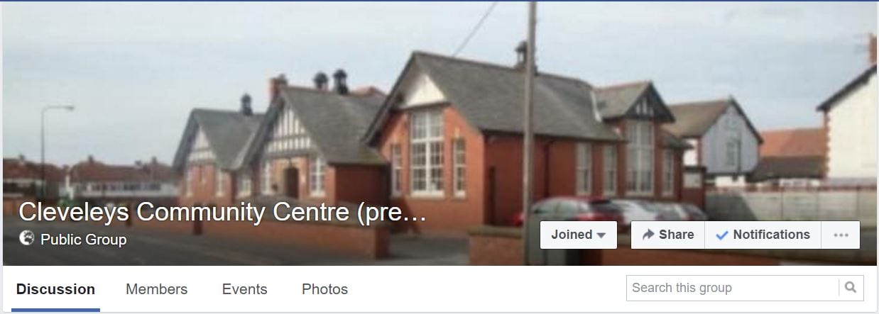 Cleveleys Community Centre Facebook Group