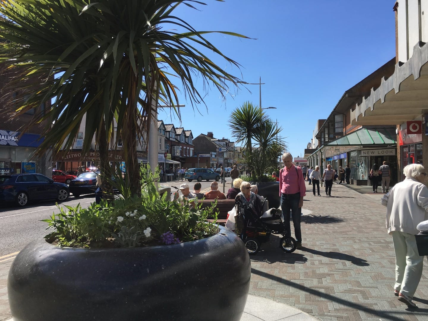 Cleveleys town centre on Saturday