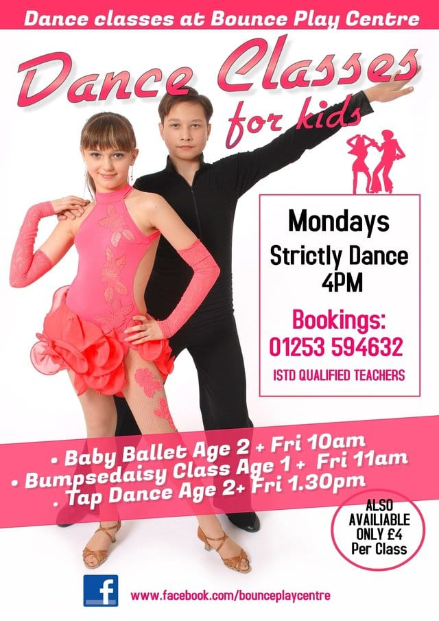 Dance classes for kids at Bounce Play Centre, Blackpool
