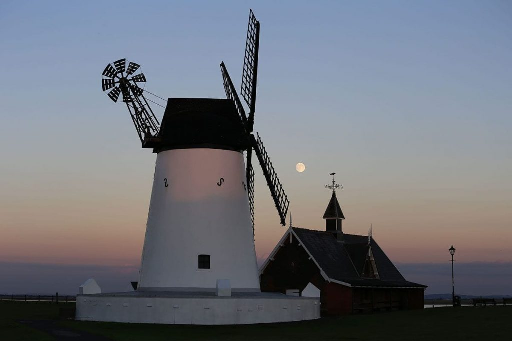 Lytham windmill, near to Eastham Hall Holiday Park