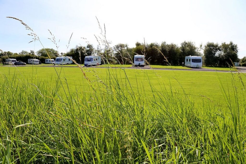 Touring caravan pitches at Eastham Hall Holiday Park
