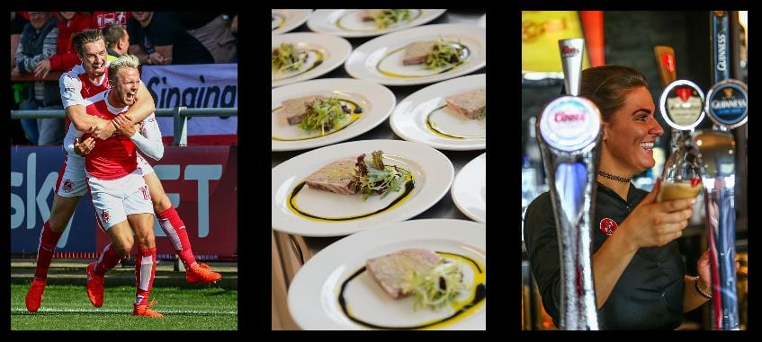 Match Day hospitality at Fleetwood Town FC