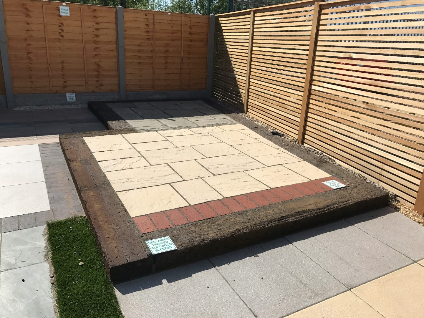 Garden Paving Display at Builders Supplies Fleetwood