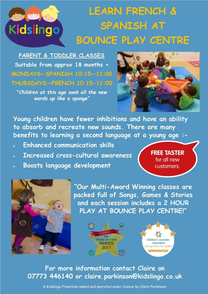 Kidslingo at Bounce Play Centre, Blackpool