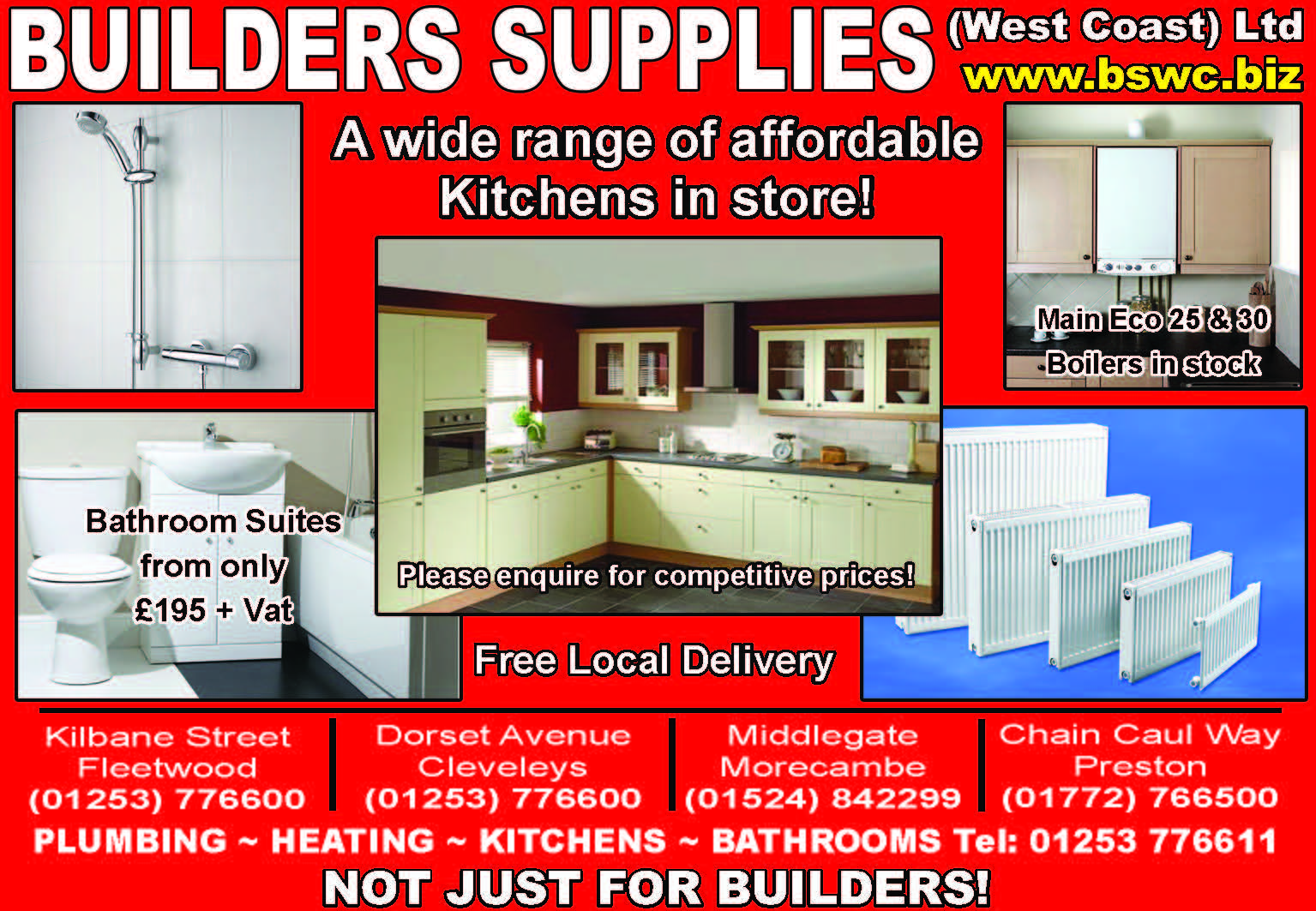 Plumbing, heating, Kitchens and bathrooms from Builders Supplies