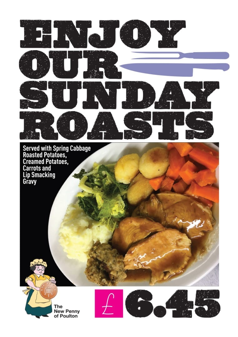 Sunday Roasts at the New Penny of Poulton