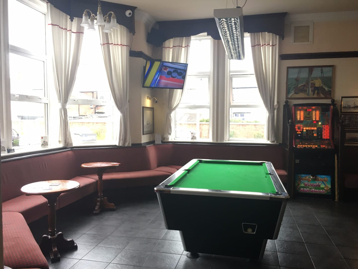 Pool table in the Vaults at The Strawberry Gardens Fleetwood