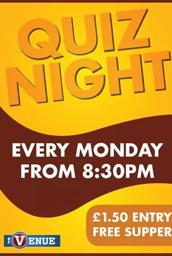 Quiz Night at the Venue Cleveleys