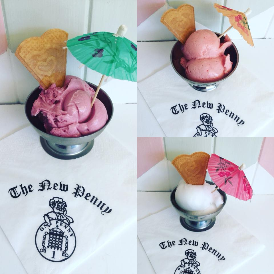 Wild Berry, Strawberry and Gin and Tonic Sorbet from New Penny Poulton